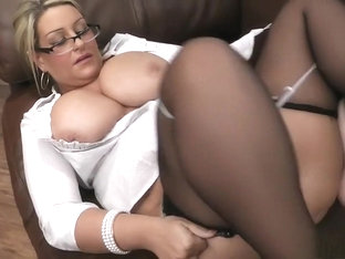 Huge Breasted Blonde MILF In Lingerie Is On The Prowl For Wild Action