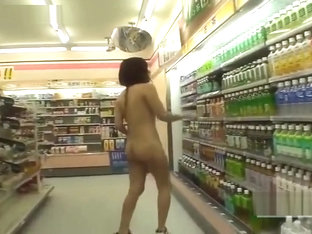 Crazy Japanese Public Nudity Convenience Store Nudist Subtitled