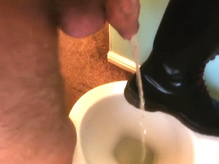 My Uncut Cock Pissing