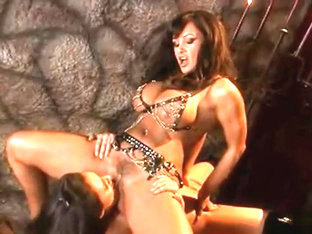 Lisa Ann - Deep Tanned, Hairy Bushed Lesbo Dom