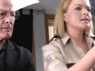 Hot Blonde Babe Officer Krissy Gets Banged