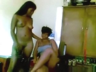Ebony Lesbian Girls Lapdance And Eat Eachother's Pussy