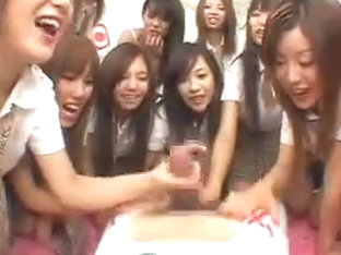 More Than 10 Japanese Girls Tease Poor Boy