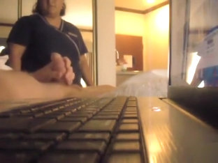 Hotel Maid Comes In And Watches Him Jerk Off
