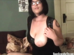 Huge Tit Babe Masturbating On Home Video