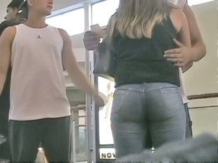 Non-nude Voyeur Video Of A Sexy Girl Filling Up Tight Jeans