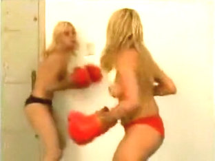2 Topless Boxing Fights