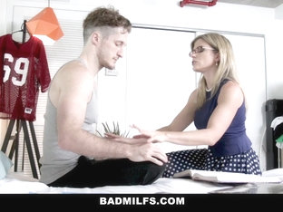 Badmilfs - Horny Milf Has Threesome With Stepson