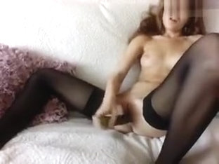 Sunlady7 Fucks Herself With Cucumber