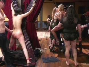 Aiden Starr & Veruca James & Mickey Mod & Marco Banderas In The Steward's Birthday Slave Orgy - Th.