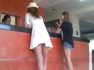 Short White Dress Blows For Amateur Upskirt Video