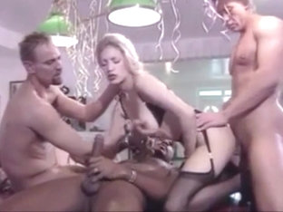 Lovely German Stocking Blonde Has Orgy For Her 18th Birthday