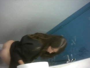 Saucy Bimbos Get Taped Urinating In The Public Toilet