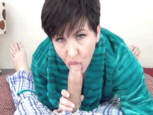 Mommy Sucks Son's Cock To Convince Him He's Not Gay
