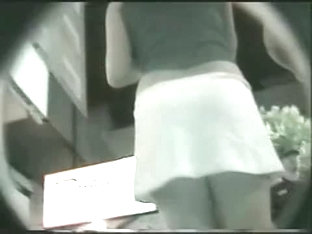 Upskirt Video Of A Woman In White Things On The Nighttime Streets