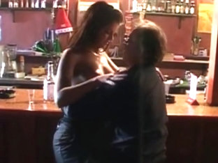 Beautifull College Girl With Older Man At The Bar