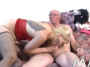 Mmvfilms Video: Young Blonde Takes Old Cock