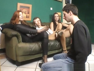 Goddess Victoria Has Her Feet Worshipped While Her Two Friend