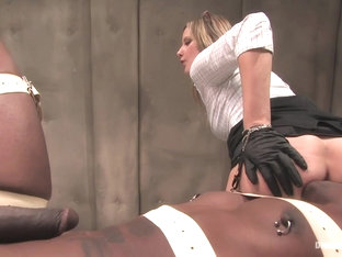 Jack Hammer & Maitresse Madeline Marlowe & Bella Rossi & Madison Young In Sperm Extraction - Divin.