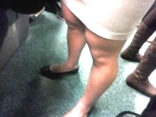 Female Muscle Legs In Bus