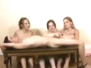 Three Girl Hand Job