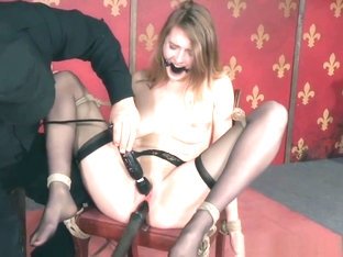 Hogtied Slut Tormented With A Vibrator