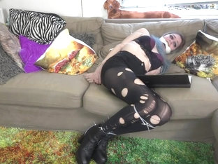 Goth Ziptied And Gagged By Her Own Spells