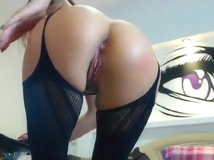 Sexy Brunette Amazingass1, In A Black Dress, Showing Her Vagina