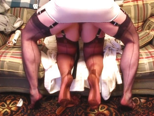 Nylonedslave & Nyloned Sissy In Fully Fashioned Nylons.