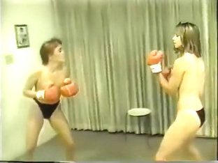 Tina Vs Robin Topless Boxing