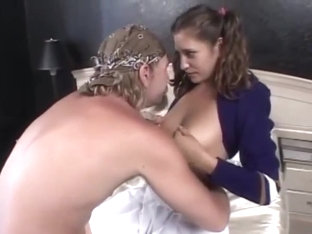 Sexy College Girl Cheerleader Fucks Old Guy