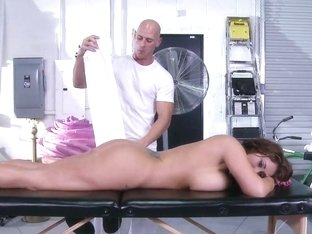 Dirty Masseur: Huge Tits On The Receptionist
