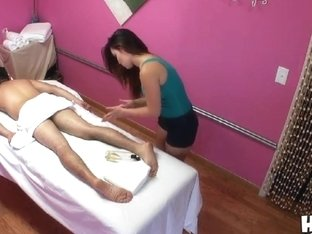 Asian Babe Gina Gives Hot Massage To Johnny Chorizo
