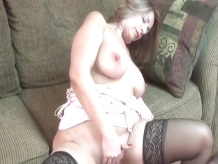 Older Grandma In Hot Outfit Fingers Her Pussy