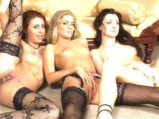 Aletta Florencia And Two Girlfriends Sharing Cock - Upox