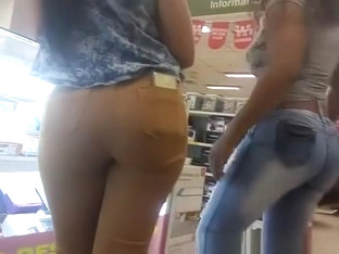Sexy Ass Latin Chick Wearing Tight Jeans
