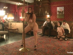 Cherry Torn & Bella Rossi In A Whip Dance For Master Acworth - Theupperfloor
