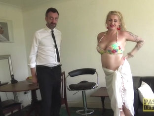 Blonde Uk Sub Smashed By Rough Cock And Cured With Cum