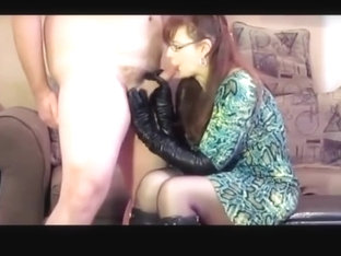 She Loves Leather Gloves, Boots, And Sucking For Cum