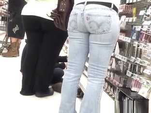 Tight Jeans Pants In Supermarket