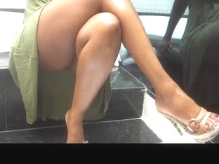 Woman Crosses Her Sexy Legs