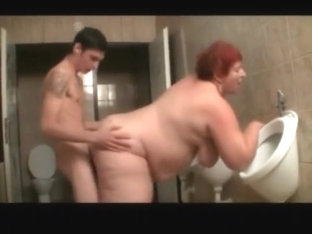 Bbw Fat Granny Fucked In The Bathroom