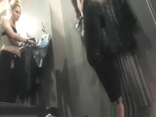 Blonde Girl Caught Trying Clothes