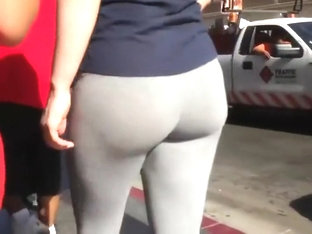 Adorable Round Ass In Tight Yoga Pants