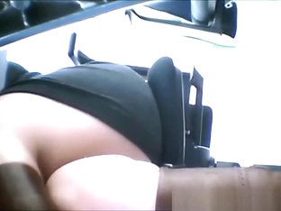 Woman Upskirt Under The Table