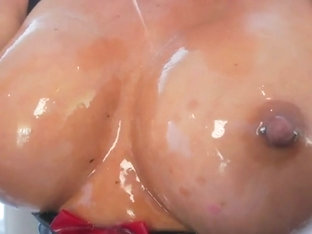 Slut In Oily Latex With Suspenders Stockings Fucked