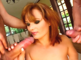 Voluptuous Redhead Cristal Is Always Eager To Get Double Penetrated