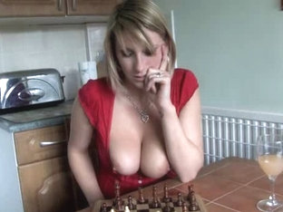 Downblouse Playing Chess Two