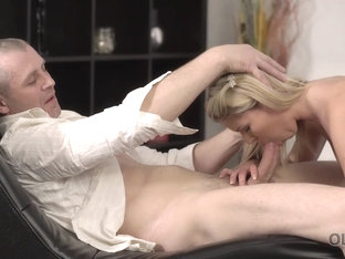 Old4k. Playful Blonde Wanted To Have Fun With Her Older...