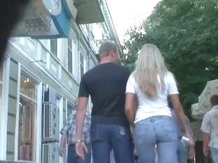 Amateur Street Candid Blonde With A Perfect Round Ass